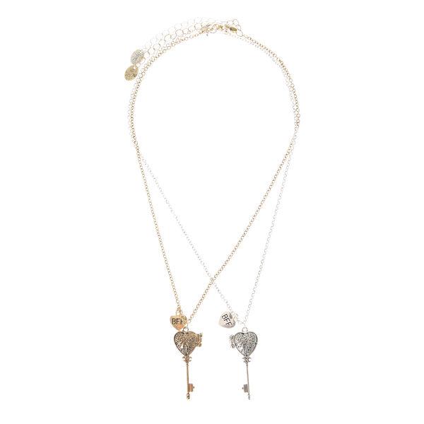 Claire's - best friends key locket necklaces - 2
