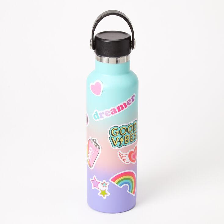 Pastel Ombre Sticker Water Bottle,