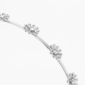 Silver Daisy Headband,