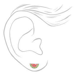 b33bc6ab5 Sterling Silver Watermelon Stud Earrings