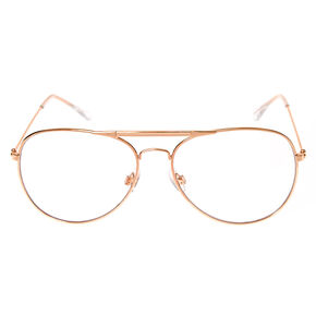4f5261cb499 Rose Gold Metal Aviator Glasses