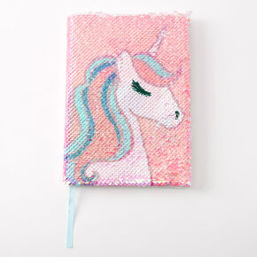 Miss Glitter the Unicorn Reversible Sequin Diary - Pink,