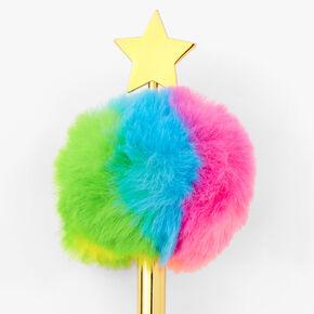 Rose Gold Pom Pom Star Pen - Rainbow,