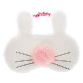 Bunny Pom Nose Sleeping Mask - White,
