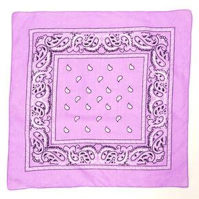 Bandeau bandana motif cachemire - Lilas,
