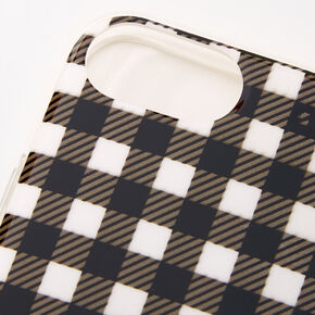 Gingham Ring Holder Protective Phone Case - Fits iPhone 6/7/8/SE,