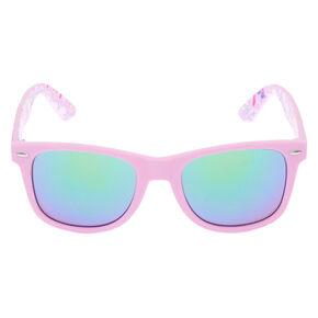 Unicorn Retro Frame Sunglasses - Purple,
