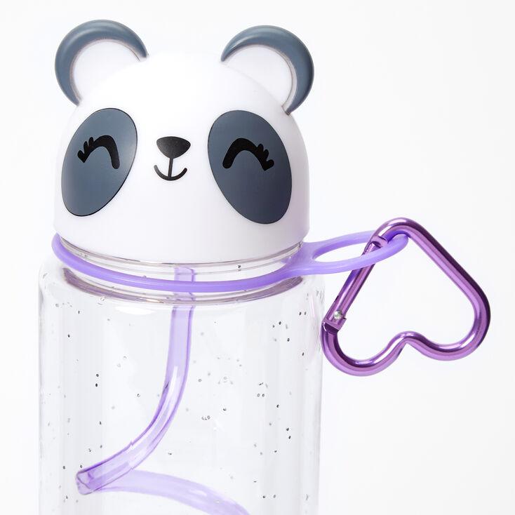Poppy the Panda Water Bottle with Swirly Straw - White,