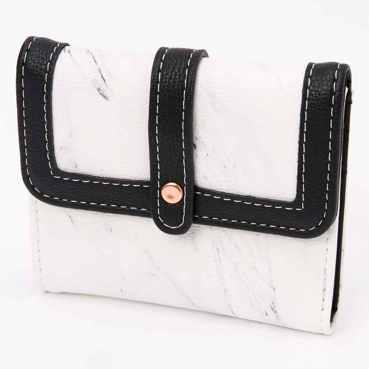 Black & White Marble Small Trifold Wallet,