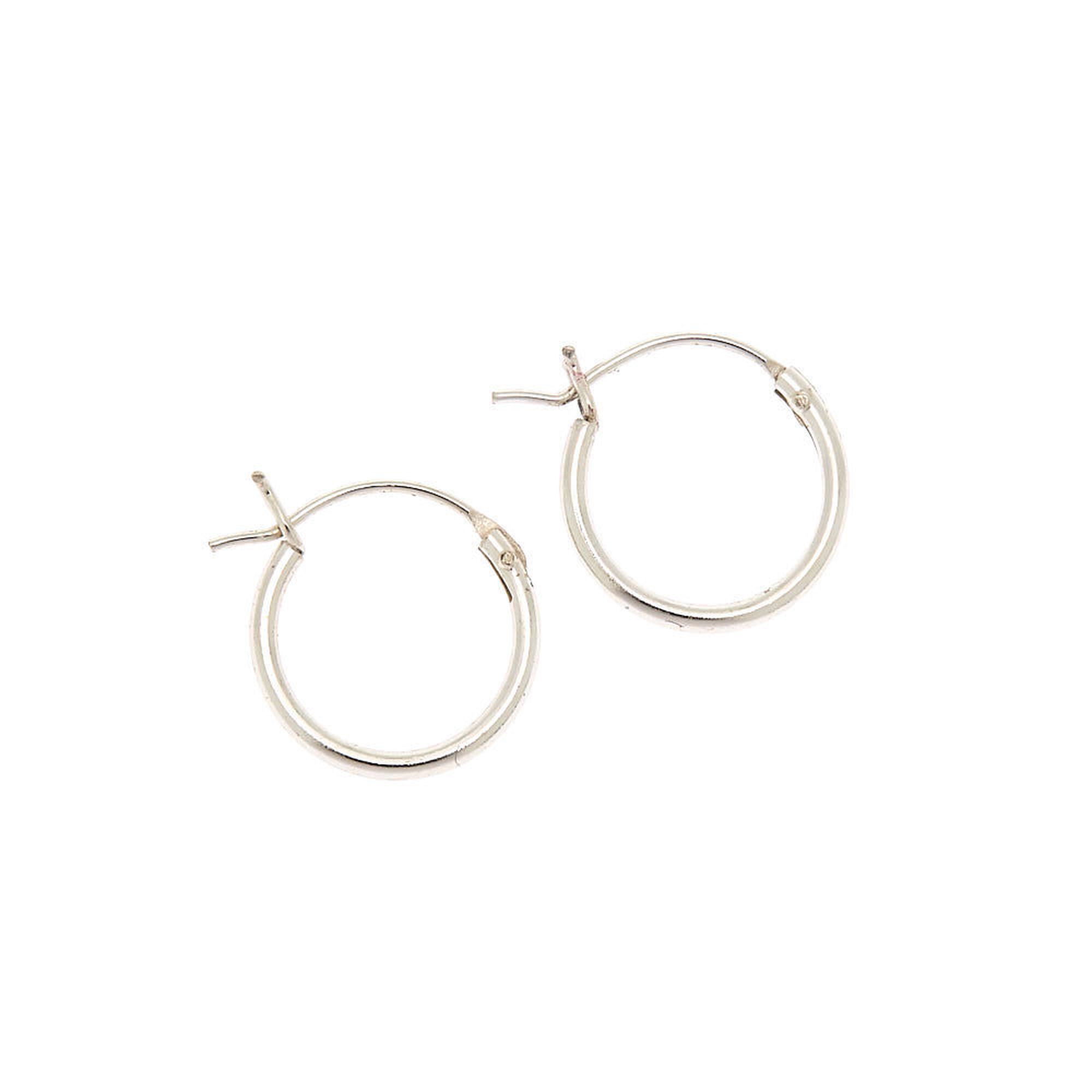 cba0bb157 Sterling Silver 12MM Hinged Hoop Earrings   Claire's