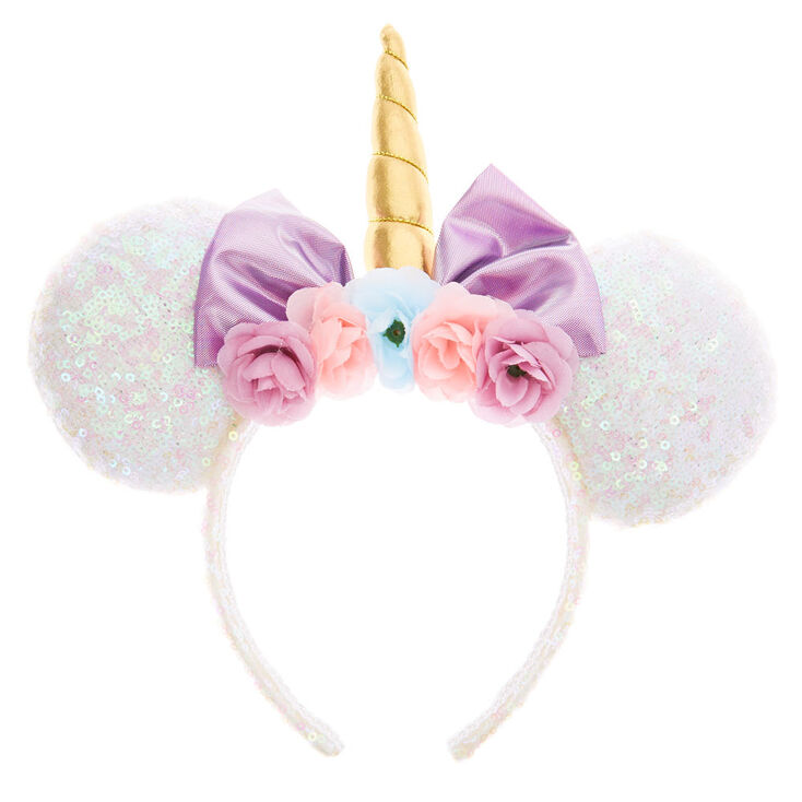 Disney® Sequin Unicorn Minnie Mouse Ear Headband - White  8d99a6684c39