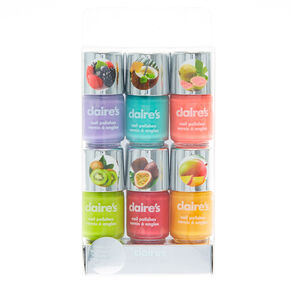 Vernis à ongles parfumés fruits fluo - Lot de 6,