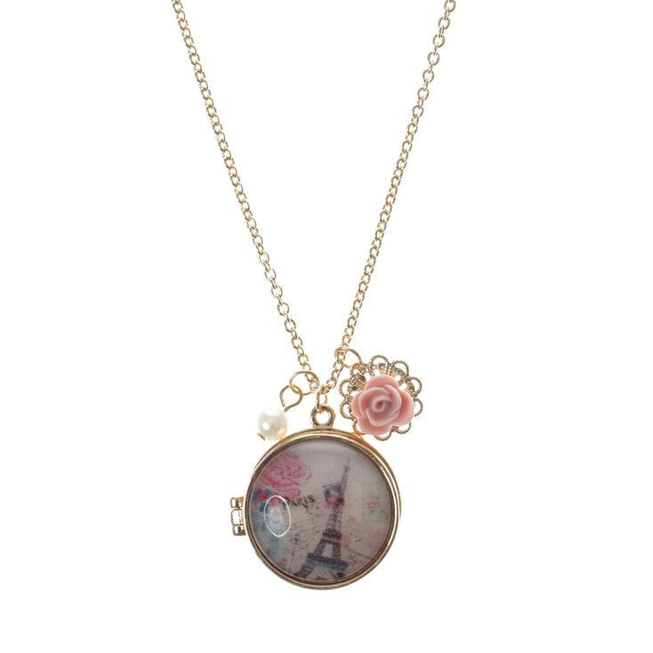 Pendentif à médaillon Pink Paris,