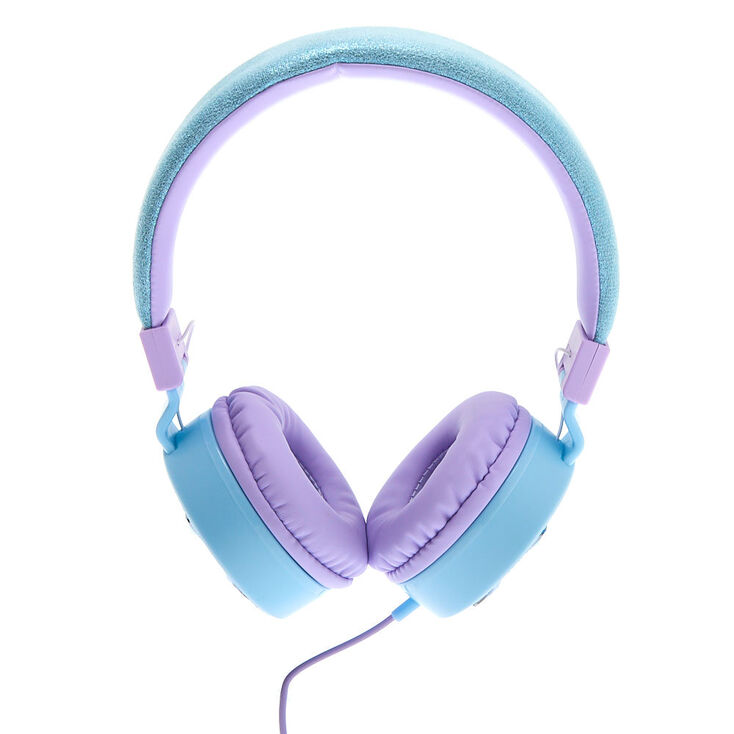Casque audio bling bling flocon de neige - Bleu,