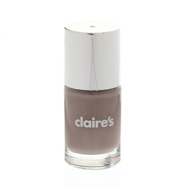 Claire's - darknude nail polish - 1