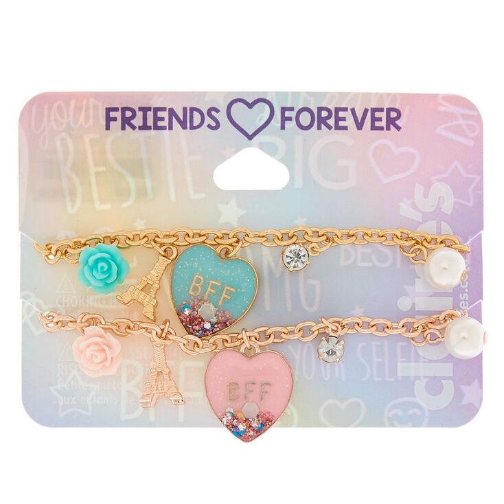 Paris Love Chain Friendship Bracelets - 2 Pack,