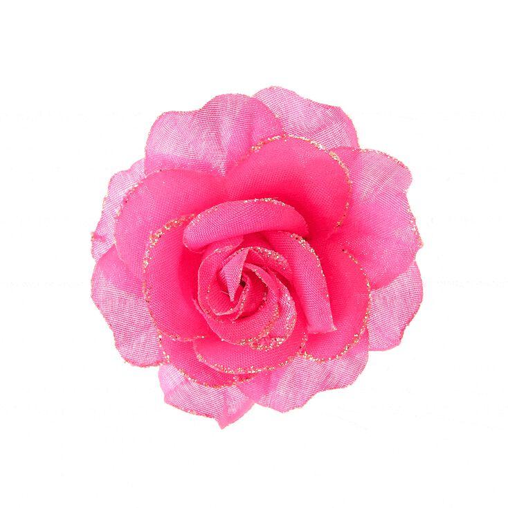 petite barrette avec fleur rose claire 39 s fr. Black Bedroom Furniture Sets. Home Design Ideas