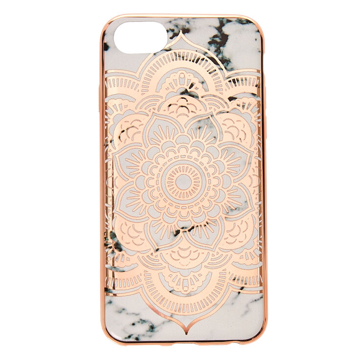 Rose Gold Marble Protective Phone Case Claire S Us