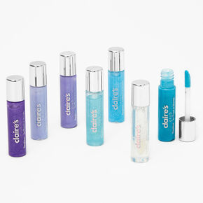 Claire's Club Cool-Tones Glitter Lip Gloss Set - 7 Pack,