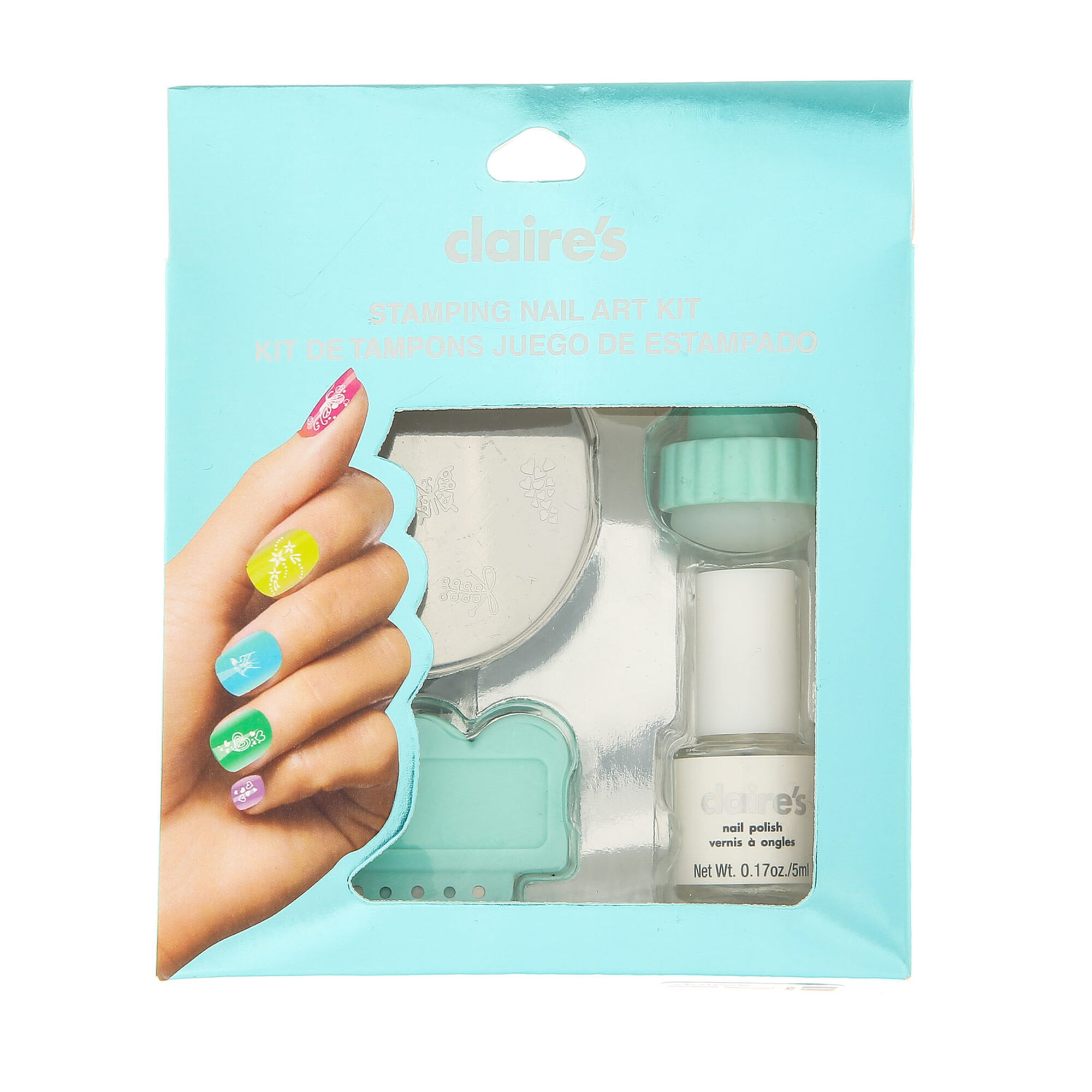 Mint Stamping Nail Art Kit Claires