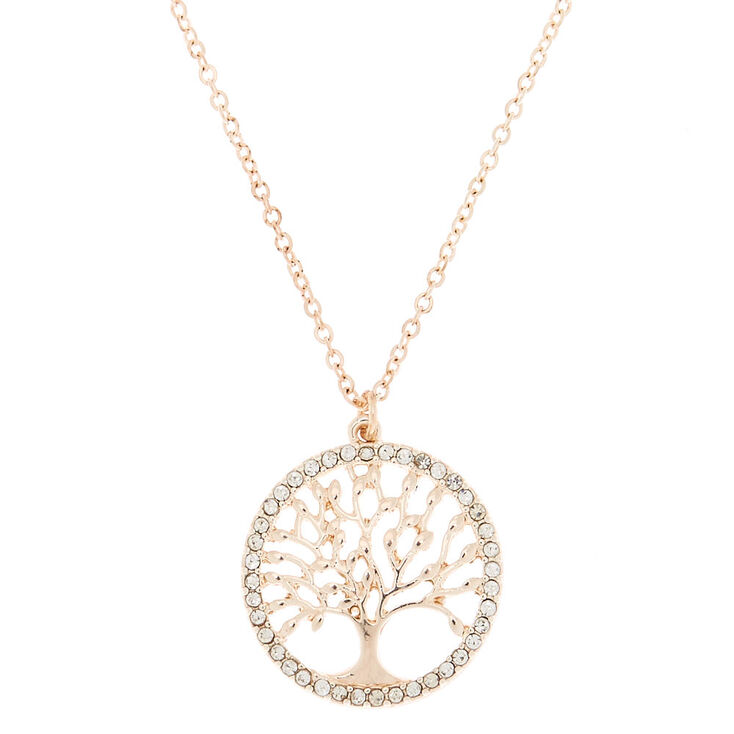 85dcfd5b9b8f2 Rose Gold Tree Of Life Pendant Necklace