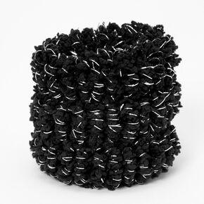 Élastiques lurex en peluche noire - Lot de 3,