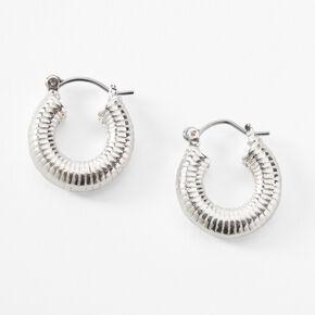 Silver 20MM Spiral Hoop Earrings,