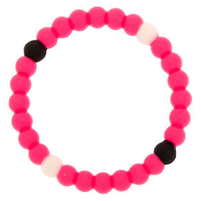 Neon Fortune Stretch Bracelet - Pink,