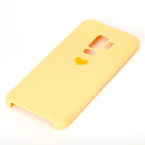 Yellow Heart Phone Case - Fits Samsung Galaxy S9 Plus,