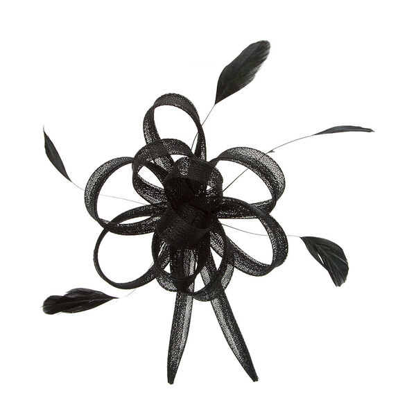 Claire's - mesh loop and feathers hair clip - 1