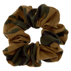 Medium Camo Print Hair Scrunchie,