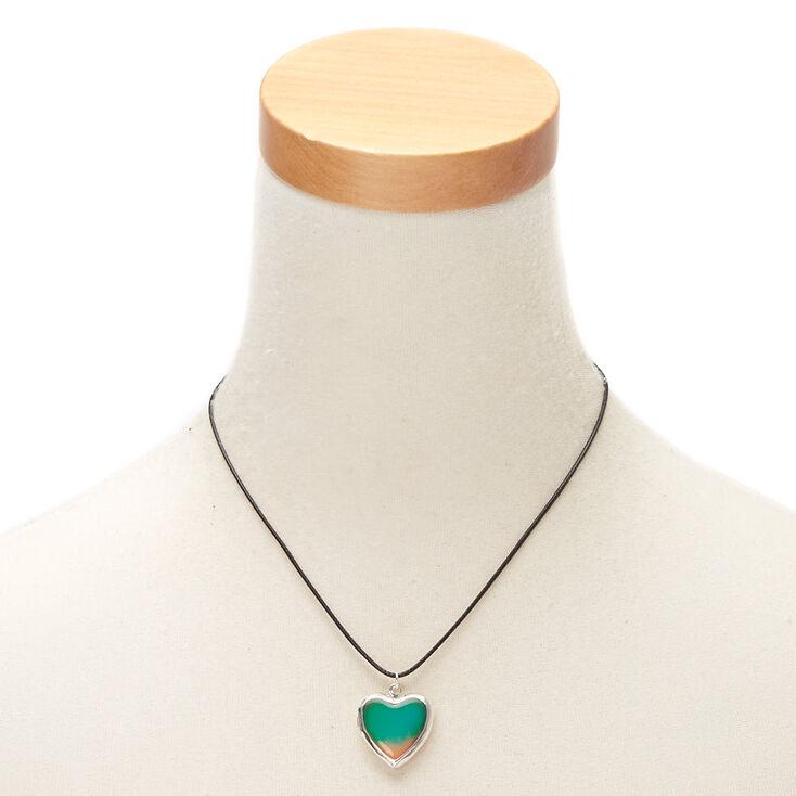 Mood Heart Locket Pendant Necklace,