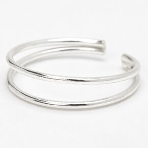 Sterling Silver Double Band Toe Ring,