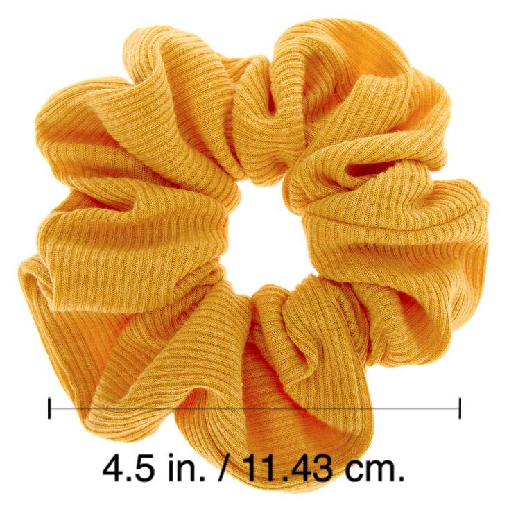 Medium Ribbed Hair Scrunchie - Mustard,