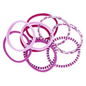 Butterfly Print Hair Ties - Purple 1d97276db44