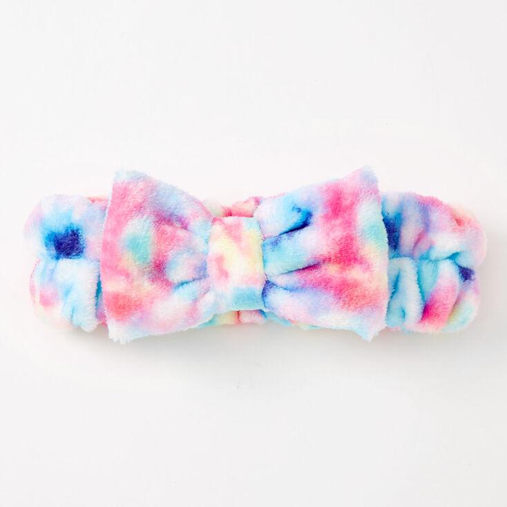 Pastel Tie Dye Makeup Bow Headwrap,