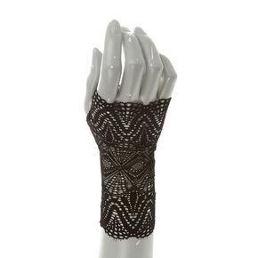 Black Lace Fingerless Gloves,