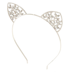 Silver Ivy Cat Ears Headband,