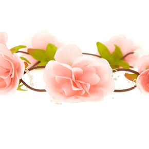 Blush Rose Baby Breath Tie Headwrap,