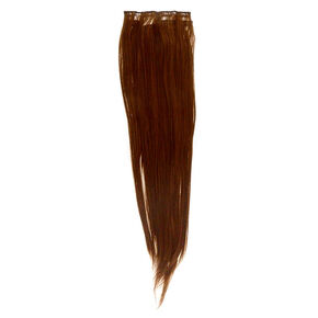 Straight Faux Hair Clip In Extensions - Brown, 4 Pack,