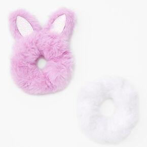 Claire's Club Medium Bunny Ear Hair Scrunchies - Pink,