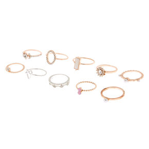 1f0a1b5384 Mixed Metal Embellishment Rings - 10 Pack