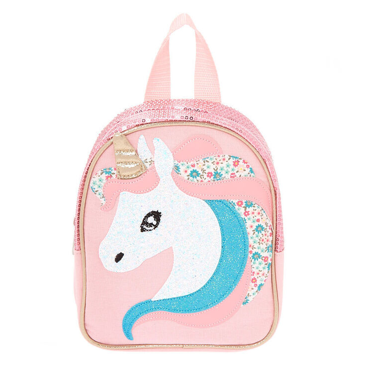 Claire's Club Unicorn Mini Backpack - Pink,