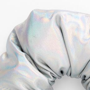 Chouchou holographique bouffant de taille moyenne,