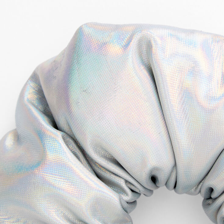 Medium Puffy Holographic Hair Scrunchie,