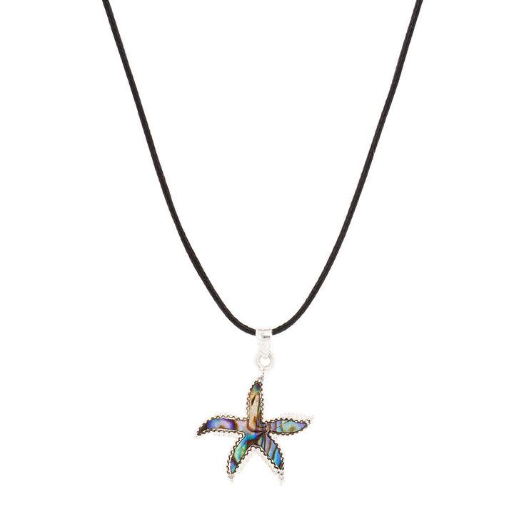 Abalone shell starfish pendant necklace claires us abalone shell starfish pendant necklace aloadofball Choice Image