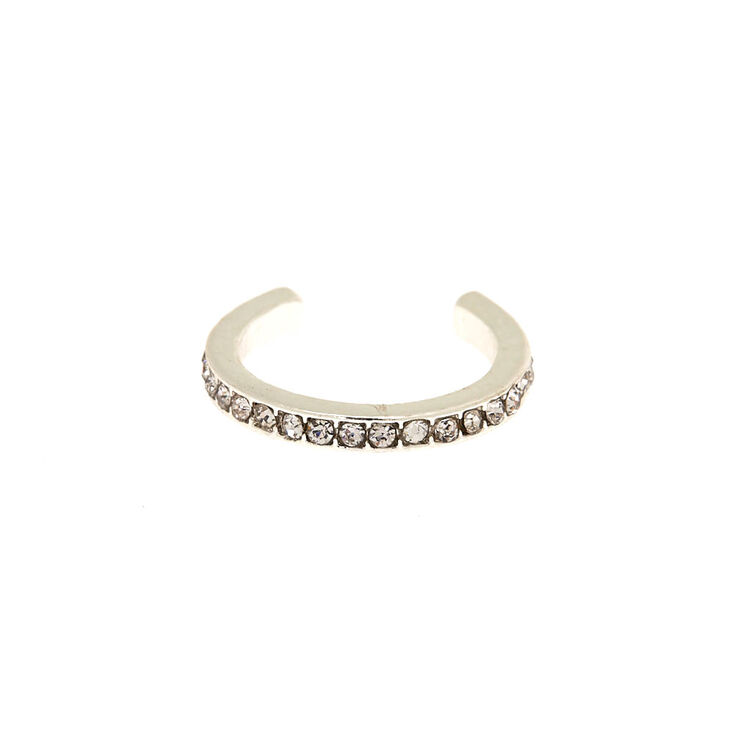 Silver Classic Studded Toe Ring,