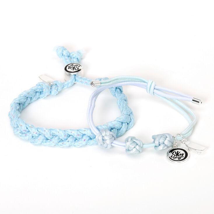 Sky Brown™ Adjustable Braided bracelets – Blue, 2 pack,
