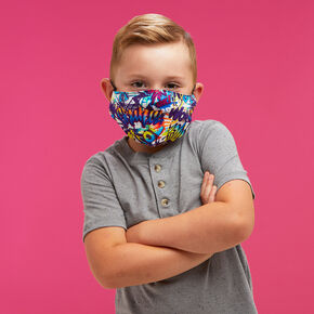 Cotton Superhero Face Mask - Child Medium/Large,