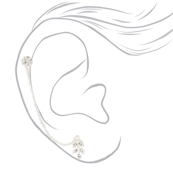 Claire's - leaf ear swag earrings - 2